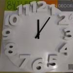 นาฬิกาแขวน 3D Wall clock ขนาด 35cm สีขาว ราคารวมส่งEMS