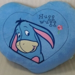 หมอนรูปหัวใจสีฟ้า (45cm)