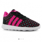 adidas LiteRacer Infant Trainers สีดำจุด