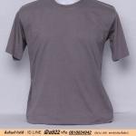OL89.เสื้อยืด เสื้อt-shirt คอกลม สีเทาทึบ
