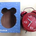 นาฬิกาปลุกสีแดง ขนาด 9x12x4.5cm รวมส่ง EMS