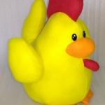 ตุ๊กตาไก่ สีเหลือง สวัสดีปีใหม่ 2560 (30cm)