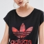 adidas Originals Rolled Sleeve T-Shirt With Floral Trefoil Logo thumbnail 3