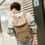 กระเป๋าเป้สะพายหลัง ผ้าแคนวาส สีกากี thumbnail 3