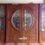 ประตูไม้สักกระจกนิรภัย ชุด4ชิ้น รหัส AAA30