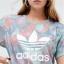 adidas Originals Pastel Camo Print Trefoil T-Shirt thumbnail 3