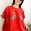 เสื้อวินเทจ ผ้าทอ Guatemala ปักมือ