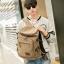 กระเป๋าเป้สะพายหลัง ผ้าแคนวาส สีกากี thumbnail 4