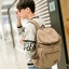 กระเป๋าเป้สะพายหลัง ผ้าแคนวาส สีกากี thumbnail 5