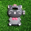 เคส Samsung J7 version2 ซิลิโคนแมวนำโชค(เสื้อลาย)