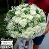 ช่อดอกกุหลาบขาว ไซส์ใหญ่ (XL)