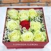 กล่องดอกกุหลาบฮอลแลนด์แบบมีฝาปิดได้ (L)
