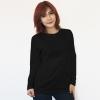 เสื้อยืดแขนยาวสีดำ ผ้าคอทตอน#32ไซส์XL