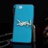 เคส iPhone 5/5s/SE เคสซิลิโคน YSL มีสายสะพาย สีฟ้า