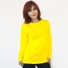 เสื้อยืดแขนยาวสีเหลือง ผ้าคอทตอน#32ไซส์XL