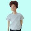 เสื้อยืดเด็กสีเทาท๊อฟ ผ้าคอทตอน#32ไซส์L