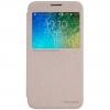 เคส Samsung E5 เคสฝาพับ รุ่น Sparkle Leather Case สีทอง
