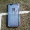 เคส iPhone 4/4s TPU กากเพชร 2 in1 สีเงิน
