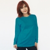 เสื้อยืดแขนยาวสีเขียวหยก ผ้าคอทตอน#32ไซส์XL