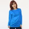 เสื้อยืดแขนยาวสีฟ้าทะเล ผ้าคอทตอน#32ไซส์XL