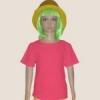 เสื้อยืดเด็กสีชมพูเข้ม ผ้าคอทตอน#32ไซส์M