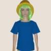 เสื้อยืดเด็กสีฟ้าทะเล ผ้าคอทตอน#32ไซส์L