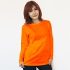 เสื้อยืดแขนยาวสีส้มสด ผ้าคอทตอน#32ไซส์XL