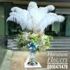 แจกันดอกไม้ แสดงความยินดี ขนนก (Premium)