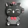 เคส OPPO F1s(A59) ซิลิโคนแมวนำโชค(เสื้อลาย)
