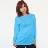 เสื้อยืดแขนยาวสีฟ้า ผ้าคอทตอน#32ไซส์XL
