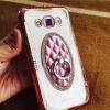 เคส Samsung J7 version2 TPU Princess(มีแหวนตั้งได้) สีชมพู