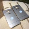 เคส Samsung J5 Bumper ขอบอลูมิเนียม หลังสไลด์ สีทอง