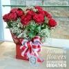 กล่องดอกไม้กุหลาบแดง วันครบรอบแต่งงาน