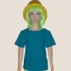 เสื้อยืดเด็กสีเขียวหยก ผ้าคอทตอน#32ไซส์L