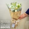 ช่อดอกไม้ กุหลาบขาว ไลเซนทัส (L)