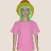 เสื้อยืดเด็กสีชมพูอ่อน ผ้าคอทตอน#32ไซส์M
