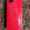 เคส iPhone 5/5s/SE ลายสังกะสี สีแดง