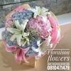 ช่อดอกไม้ Lillies - Hydrangea (M)