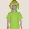 เสื้อยืดเด็กสีเขียวมะนาว ผ้าคอทตอน#32ไซส์M