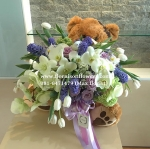 Sorry Bear :( | ช่อดอกไม้ ตุ๊กตาหมี (PREMIUM)
