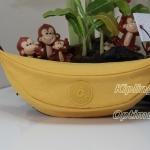 Kipling Banana Pouch - Yellow (USA) ขนาด 8.75 x 2.5 x 3.25 นิ้ว