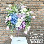 แจกันดอกไม้วันเกิด ทิวลิป-ไฮเดรนเยีย (XL)