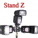 Stand Z DSLR Flash Shoe Umbrella Holder 3x Triple Flash