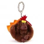 Kipling Thanksgiving monkey keychain มาพร้อมกล่องพลาสติกใส ขนาด 4x3.25x2.25 นิ้ว