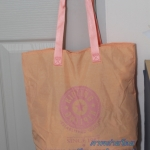Kipling Hip hurray Tote Apricot กระเป๋าถือหรือสะพายขึ้นไหล่ ขนาด 18.5 x 15 x 8.75 นิ้ว