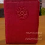 Kipling Passport Holder Happy Red Mix ขนาด 4*5.5 นิ้ว