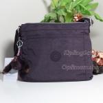 Kipling K16617 Moyelle Dark Auberg ม่วงมังคุด กระเป๋าสะพายน่ารัก ขนาด 25 L x 18 H x 7 W cm