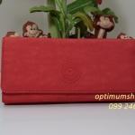 Kipling Brownie Coral Rose C กระเป๋าสตางค์ใบยาว ขนาด 19 L x 10 H x 3 W cm