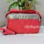 Kipling K15372 Haru Pink Silver C กระเป๋าสะพายน่ารัก ขนาด 24 L x 16.5 H x 7.5 W cm small