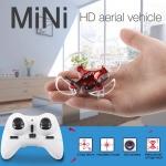โดรนติดกล้อง จิ๋ว L7HW Mini FPV Drone Camera 720P Wi-Fi 3D VR Function (สีแดง)